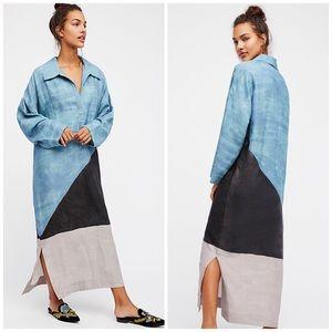 New Rare Mara Hoffman Oversized Tunic Maxi Dress